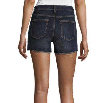 "a.n.a Raw Hem Denim Shorts (3 1/2"")"