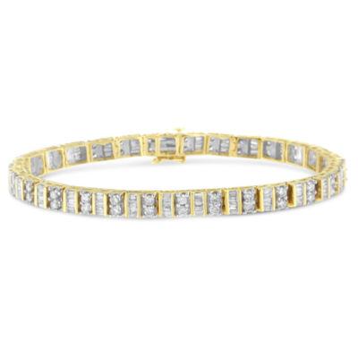 4 CT. T.W. White Diamond 14K Gold 7 Inch Tennis Bracelet