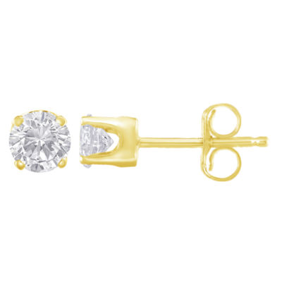 1/3 CT. T.W. White Diamond 14K Gold 3.5mm Stud Earrings