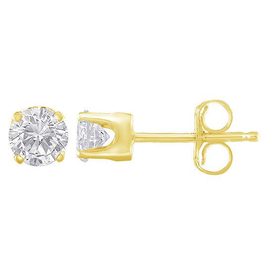 1/3 CT. T.W. Genuine White Diamond 14K Gold 3.5mm Stud Earrings