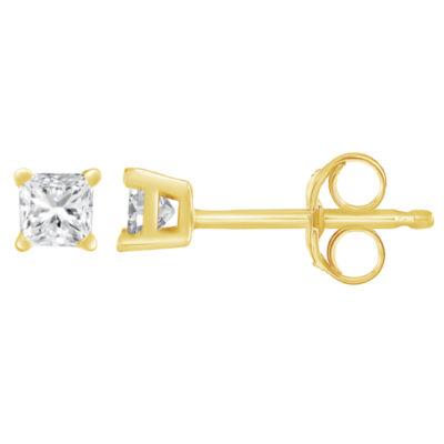 1/5 CT. T.W. White Diamond 14K Gold 15mm Stud Earrings