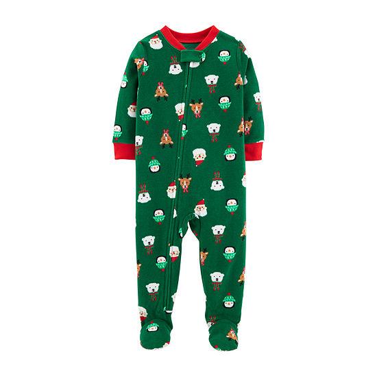 50cb2e0d1 Carter s Christmas 1-Pc. Fleece Footed Pajama - Toddler Boys - JCPenney