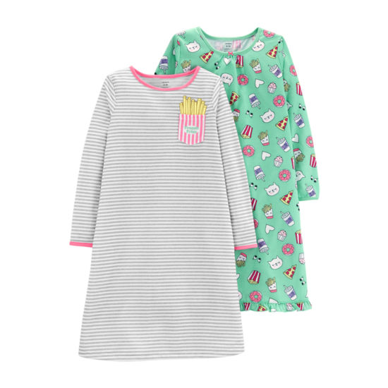 Carter's 2-Pk. Food Printed Sleep Gowns - Baby Girl