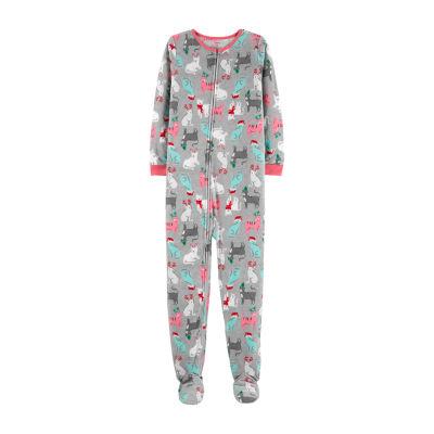 Carter's One Piece Christmas Cat Fleece Pajama - Preschool Girl
