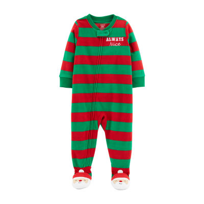Carter's Holiday Long Sleeve One Piece Pajama - Toddler Boys Long Sleeve Footed Pajamas-Toddler Boys