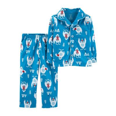 Carter's 2-Pc. Abominable Snowman Fleece Pajama Set - Toddler Boy