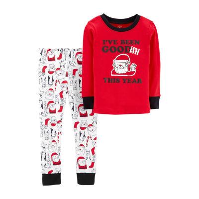 Carter's 2-Pc. Holiday Pant Pajama Set- Toddler Boys