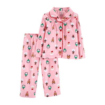 Carter's 2-Pc. Holiday Pant Pajama Set - Toddler Girls