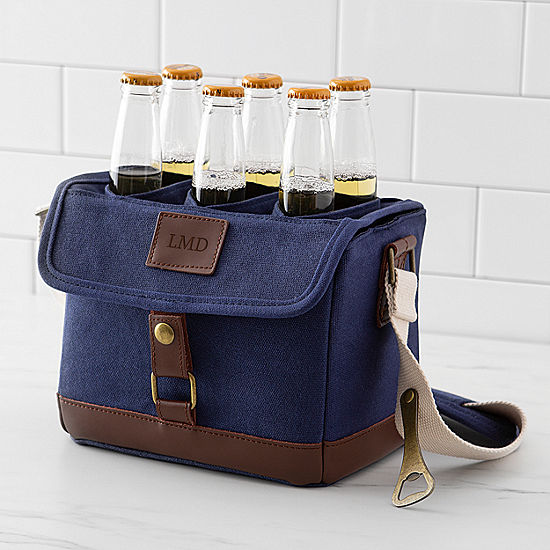 Cathy's Concepts Personalized Canvas Bottle Carrier