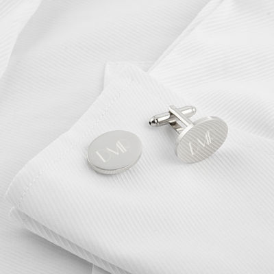 Engravable Oval Cufflinks