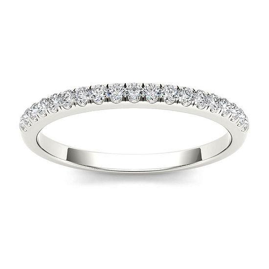 2MM 1/5 CT. T.W. Genuine White Diamond 10K Gold Wedding Band
