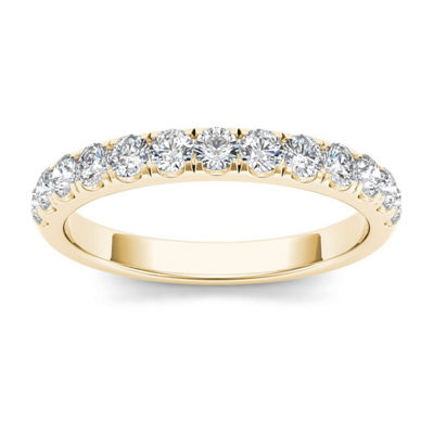 Womens 2 Mm 1/2 CT. T.W. Genuine White Diamond 14K Gold Wedding Band