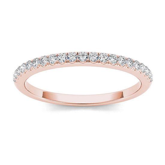2 Mm 1/6 CT. T.W. Genuine White Diamond 10K Gold Wedding Band