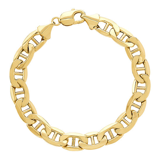 10K Gold 9 Inch Hollow Link Bracelet