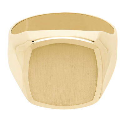 Mens 14K Gold Signet Ring