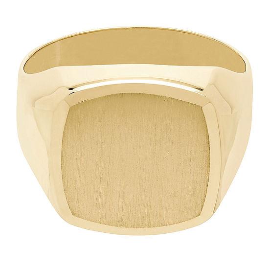 Mens 14K Gold Signet Ring