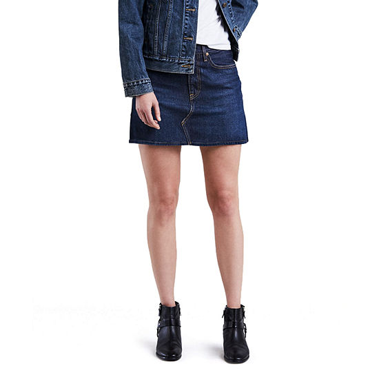 Levi's® Mid Length Denim Skirt