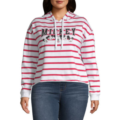 Mickey Mouse Cropped Sweatshirt - Juniors Plus