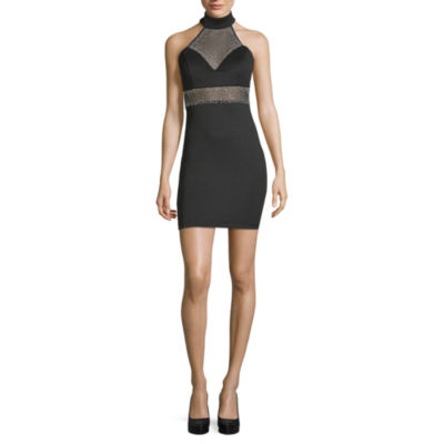 BEE Smart Sleeveless Applique Party Dress-Juniors