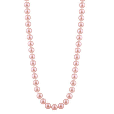 Womens 5MM Purple Cultured Freshwater Pearl Strand Necklace