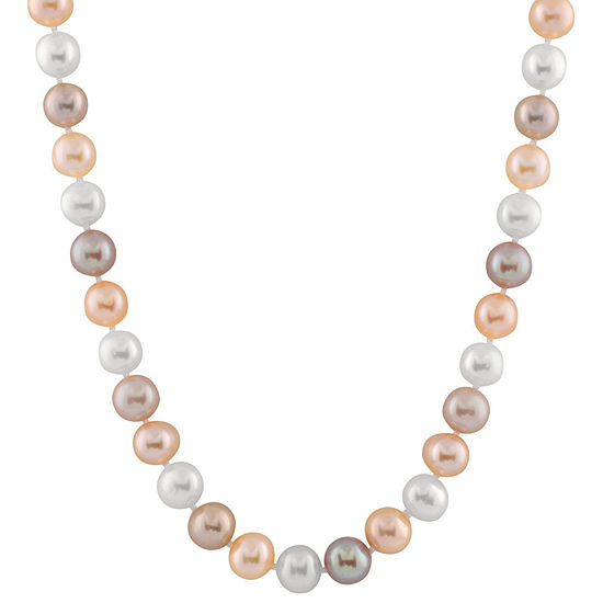 Womens 11MM Multi Color Cultured Freshwater Pearl Strand Necklace