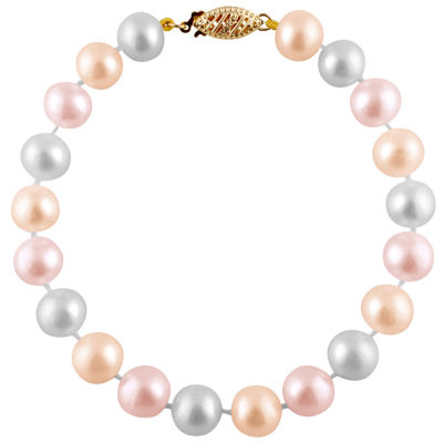 Multi Color Cultured Freshwater Pearl Beaded Bracelet