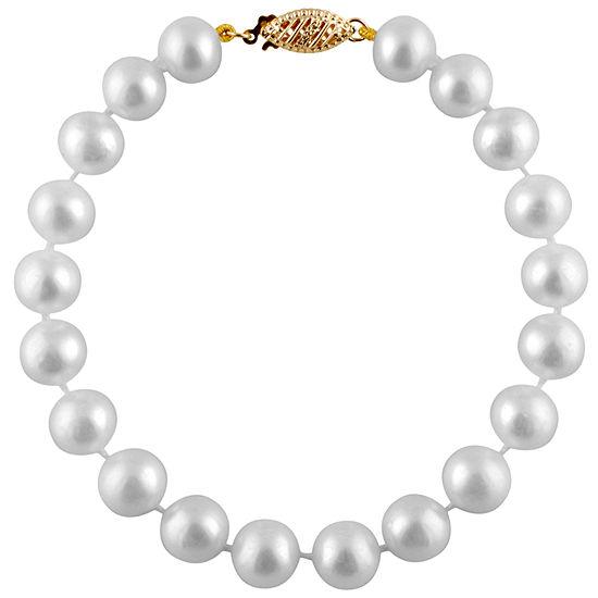 White Cultured Freshwater Pearl Beaded Bracelet