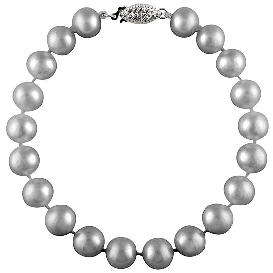 Gray Cultured Freshwater Pearl Beaded Bracelet