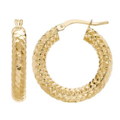 Made In Italy 14K Gold 15mm Hoop Earrings