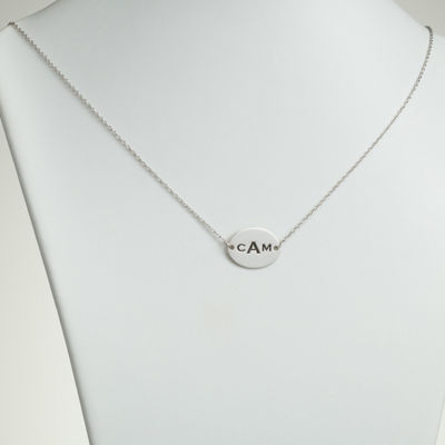 Personalized Womens Sterling Silver Pendant Necklace