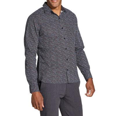 Van Heusen Never Tuck Long-Sleeve Button-Down Shirt