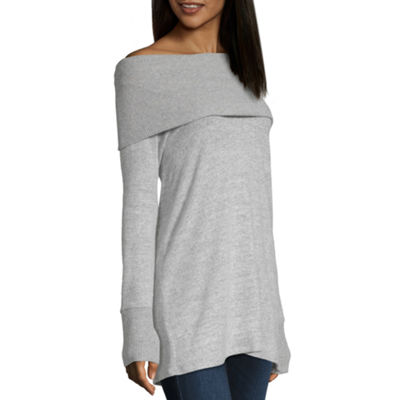 a.n.a Womens Long Sleeve Knit Blouse