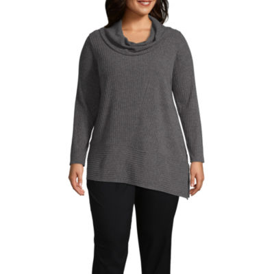 Alyx Long Sleeve Asymmetrical Sweater - Plus