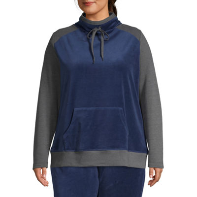 St. John's Bay Active Velour Pullover Jacket - Plus
