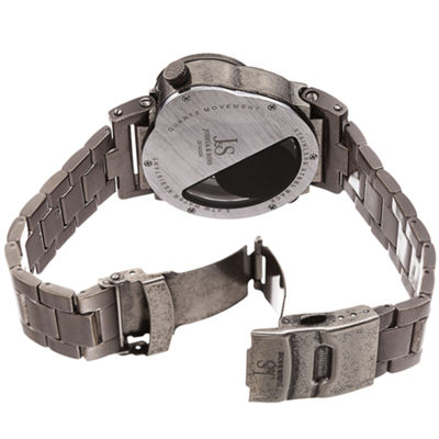 Joshua & Sons Mens Gray Strap Watch-J-143gn