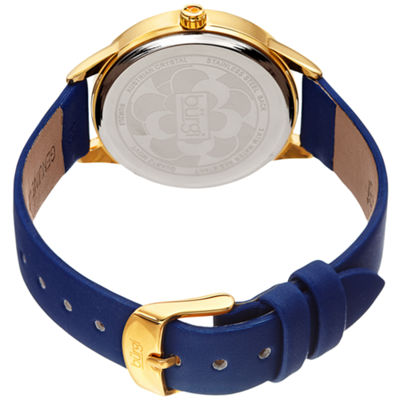 Burgi Womens Blue Strap Watch-B-203bu
