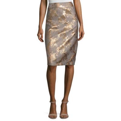 Liz Claiborne Womens Midi Pencil Skirt