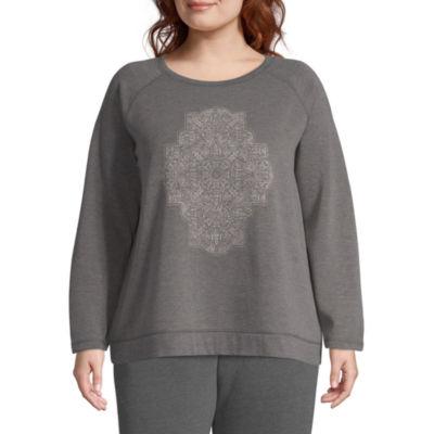 St. John's Bay Active Graphic Sweatshirt - Plus
