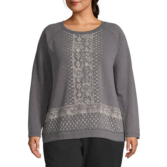 St. John's Bay Active Graphic Sweatshirt - Plus