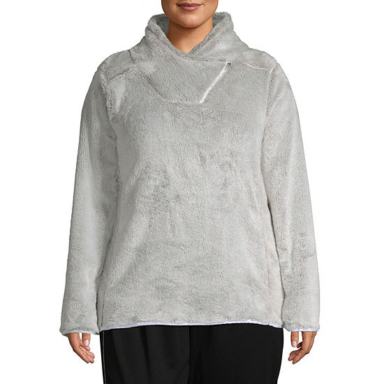 757ba02dfb26 St. John s Bay Active Plush Crossover Neck Pullover - Plus - JCPenney