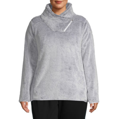 St. John's Bay Active Plush Crossover Neck Pullover - Plus