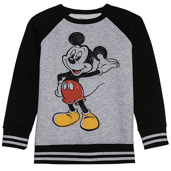 f38b77d9ef20 Disney Mickey s 90th Long Sleeve Mickey Mouse Sweatshirt Boys - JCPenney