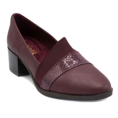 Gloria Vanderbilt Womens Pippa Round Toe Wide Width Slip-on Pumps