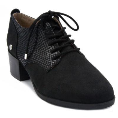 Gloria Vanderbilt Womens Quinn Oxford Round Toe Wide Width Lace-up Shoes