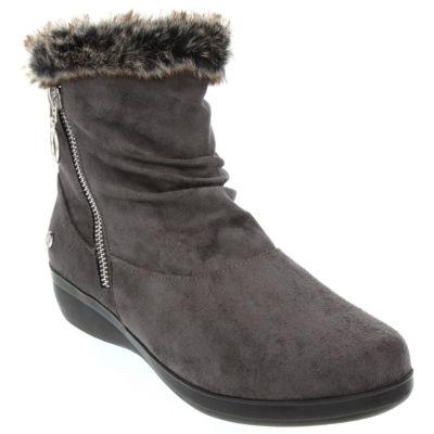 Gloria Vanderbilt Womens Trudy Wedge Heel Zip Booties