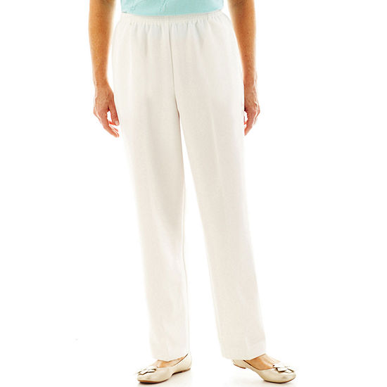 Alfred Dunner-Misses Short Classics Womens Straight Pull-On Pants
