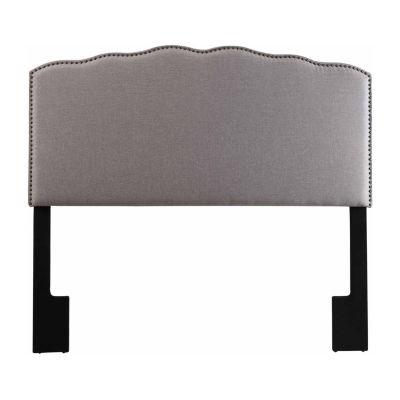Home Meridian Upholstered Nailhead Trim Headboard