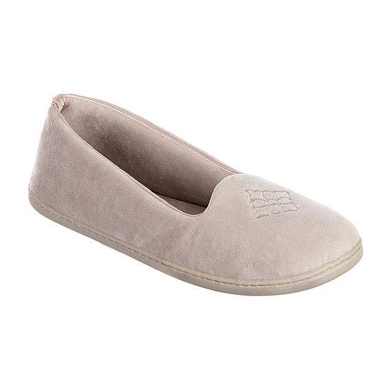 Dearfoams Velour  Closed Back Slip-On Slippers