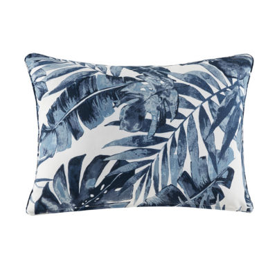 Madison Park Printed Palm Rectangular Outdoor Pillow