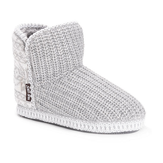 Muk Luks Womens Bootie Slippers
